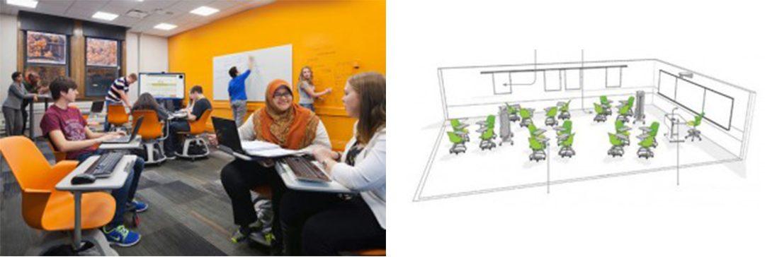 Case Western Reserve University classroom and floorplan
