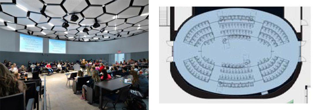 Oregon State University classroom and floorplan