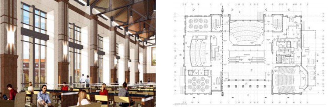 Purdue University classroom and floorplan