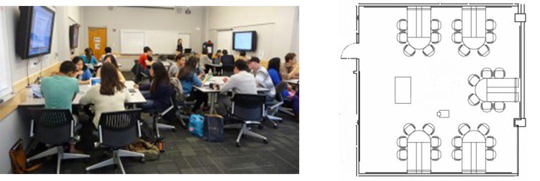 UC Berkley classroom and floorplan