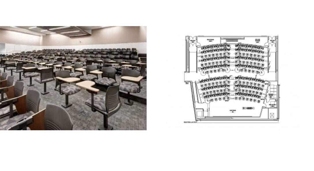 University of Denver classroom and floorplan