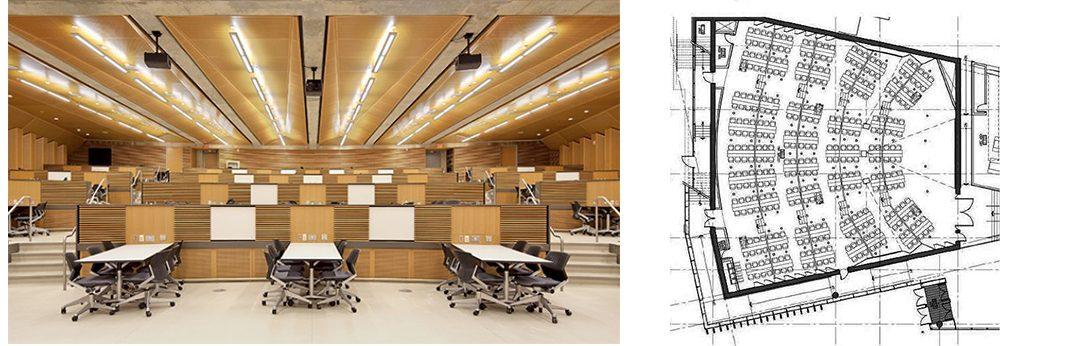 University of Windsor classroom and floorplan